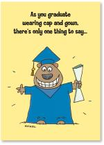Bear In Cap And Gown
