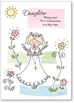 Girl In Communion Gown