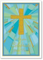 Stain Glass Gold Cross