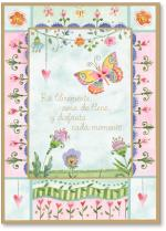 butterfly in bright border