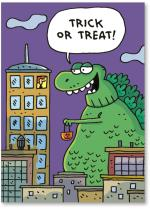 Green monster trick or treating
