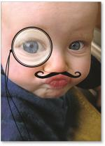 Boy with Mustache and Monocle