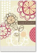 Flowers and dots on Kraft paper
