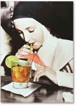Nun at Bar with Cocktail
