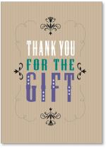Text Thank You Gift With Stripes