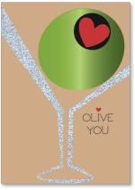 Olive in glass