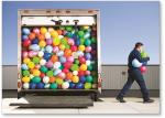 Truckload of balloons