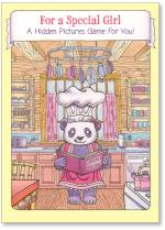 Panda in kitchen- hidden picture game