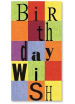 Checker board pattern and Type - Birthday Wish