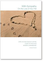 Heart/ Paw Prints In Sand