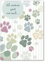 different color paw prints