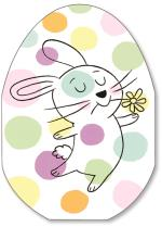 polka dot background with bunny
