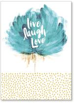 Live Laugh Love Flower Brushstrokes