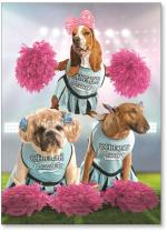 Dog cheerleaders