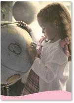 Little Girl And Globe