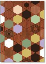 brown geometric