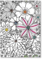 coloring book flowers