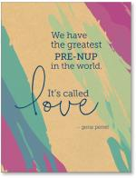 Pre-nup called love