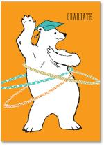 Hula hooping Polar bear.