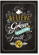 Believe Faith Chalkboard
