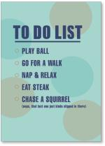 To do list with big dots