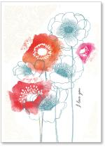 Water color flowers with lace