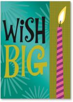 Big wish and candle