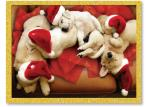 Sleeping Dogs in Santa Hats