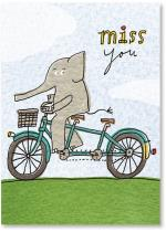 Elephant riding a bicycle built for two - alone