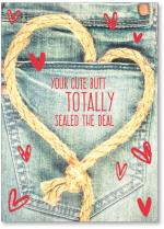 Rope heart and jeans.