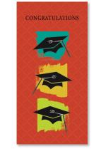 brushstroke boxes and graduation caps