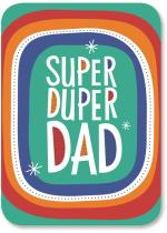 Super Duper Dad in colorful rounded frame