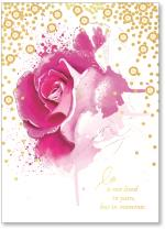 pink rose with gold dots