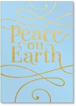 Peace on earth calligraphy