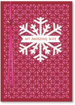 laser cut pattern with snowflake