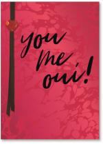 You, me, oui red marble