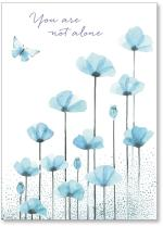blue flowers & butterfly