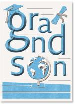 Grandson lettering with grad elements