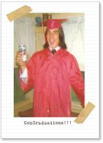 Graduate with a beer.