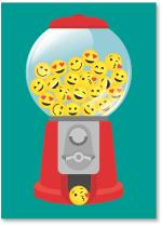 Gumball machine with emoji's