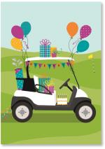 Golf cart decorated