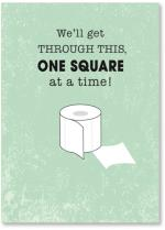 One square of toilet paper