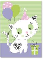 Kitty with balloons
