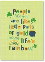 Shamrocks, a rainbow and a pot of gold
