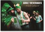 Adults celebrating drinking green beer